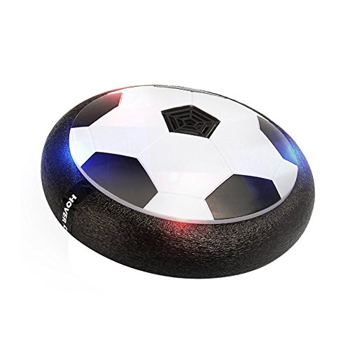 Adhesive Foam Discs (CTREEY Air Power Soccer Disc, Pneumatic Suspended Football with Foam Bumpers and LED Lights, Hover Disk Gliding Ball Disc Toy for Indoor and Outdoor (Black))