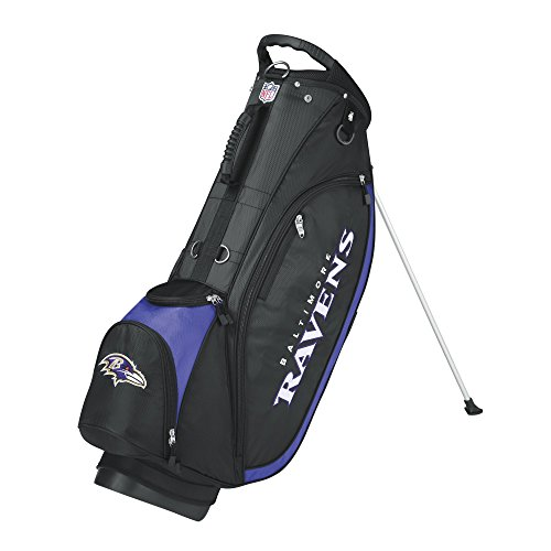 NFL Baltimore Ravens Golf Carry Bag One Size Black/Purple