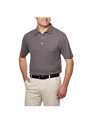 Kirkland Signature Mens Short Sleeve Pique Performance Polo (XX-Large, Grey) (Mens Performance Pique Polo)