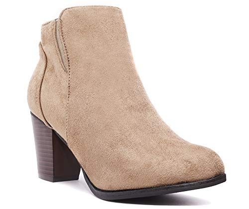 Charles Albert Womens Forever Faux Suede Chunky Heel Booties (10, ()