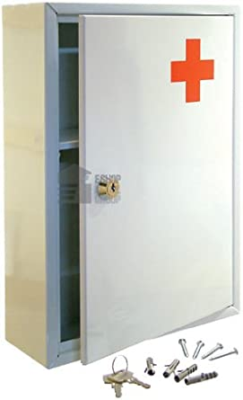 EMERGENCY FIRST AID MEDICAL CABINET BOX WHITE
