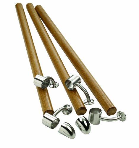 Richard Burbidge KIT04 Fusion Boxed Handrail Kit - White Oak/Chrome by Richard Burbidge ()