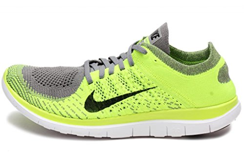 online retailer 30b53 993f4 nike free 4.0 flyknit mens running trainers 631053 sneakers shoes (uk 11 us  12 eu 46, light charcoal black-volt-black 007) - Buy Online in UAE.