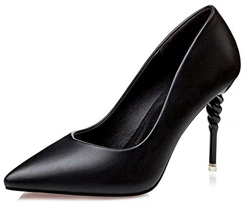 Kengät Mustalla Työkengät Pumput Stiletto Seksikäs Naisten Pieni Luistaa Korkokengät Velardeeee Teräväkärkiset Leikkaus gPIqxI0w