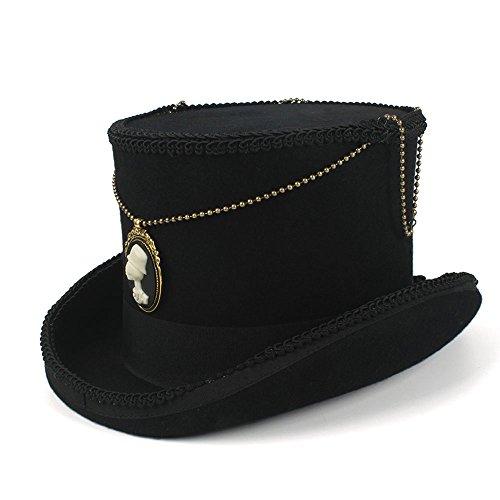 MISSMARCH Vogue Hipste Steampunk Hat Vintage Wool Plumy Wool DIY Gentleman Hat Magic Hat Equestrian Hat