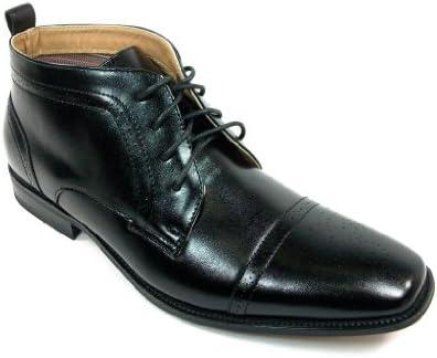 Ferro Aldo Men's 806005A Cap Toe Ankle High Lace Up Dress Boots