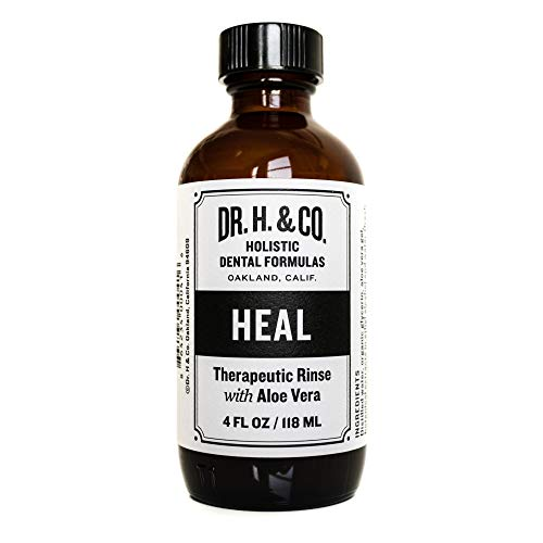 Dr. H. & Co. Dentist Formulated Heal Therapeutic Mouth Rinse - All Natural Herbal Professional Strength Mouthwash for Oral Gum Health (4 oz Glass Bottle)