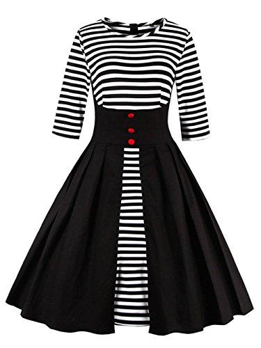 VKStar VKStar mujer Vestido Vestido para Negro zTqpwFwa