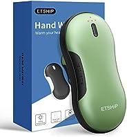 Hand Warmer, ETSHiP 9000mah Pocket Warmer Electric Hot Hand Heater, Portable Fast Charge USB Power Bank Body W