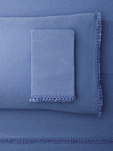 Belle Epoque Misto Tassle Sheet Set Queen Blue, ()