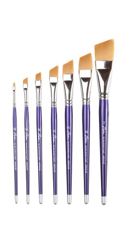 Angular Artist Brush Set - Artist's Club Papillon Angular Shader Craft Paint Brush Set of 7