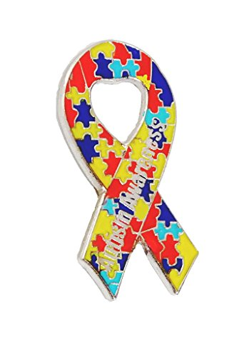 Wholesale Lot of 12 Autism Awareness Ribbon Puzzle Lapel Hat Pins Raise Awareness