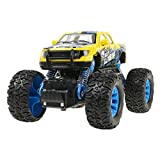 Jinjin Off-Road Race Buggy Toy, Four-Wheel Drive Off-Road Vehicle Simulation Model Toy Baby Alloy Car (Yellow)