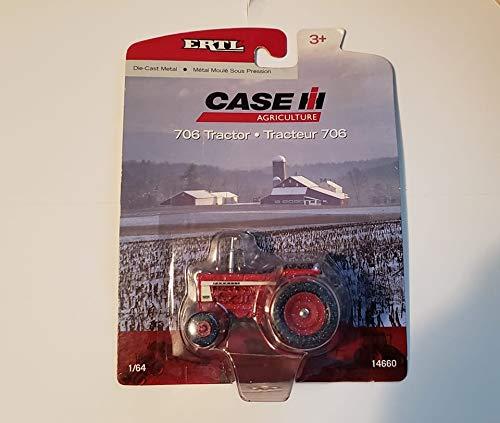 1/64 Scale International Farmall 706 Snowy Chase Edition Rear Duals Tractor ERTL