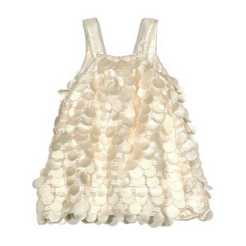 Halabaloo Dangling Dot Dress in Ivory-6]()