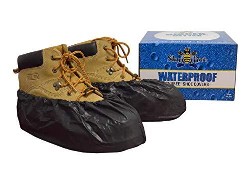 Covers Shoe Black - ShuBee Waterproof Shoe Covers, Black (40 Pair)