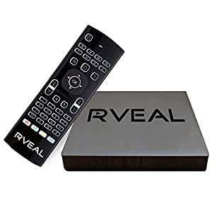 Rveal 2 Streaming Media Player and Backlit Air Mouse Keyboard Remote [2018 Model, Android TV Box, Automated Updates, S912 Octa-Core CPU, H.265 4K HD]