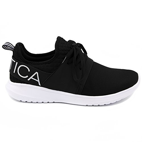 Sneaker Da Donna Fashion Jogger (lace-up / Slip-on) In Pelle Nera