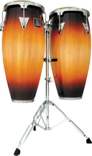 LP Aspire 10 & 11 inch Conga Set with Stand Vintage Sunburst LPA646-VSB Aspire Wood Conga Set