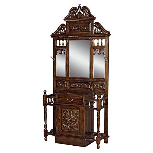 Design Toscano Edge Worth Manor Mahogany Hall Stand