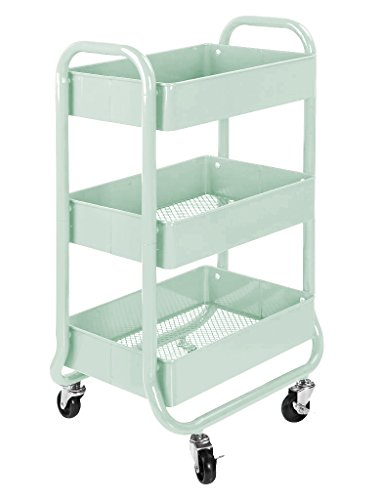 Urban Shop Metal Rolling Cart by Urban Shop