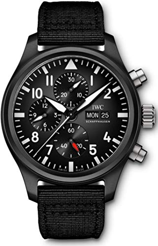 IWC Pilot's Flyback Chronograph Ceramic TOP Gun Mens Watch IW389101