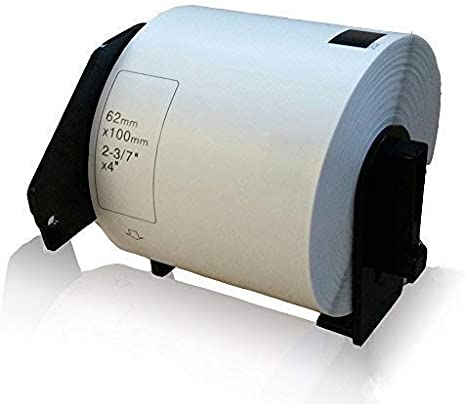 3 ROLLEN ETIKETTEN 38mm x 30.48m STANDARD für BROTHER P-touch QL-650 TD