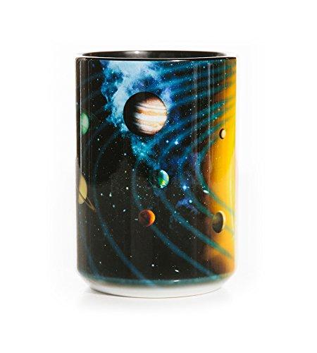 (The Mountain 57312609001 Solar System Coffee Mug 15 oz Black)