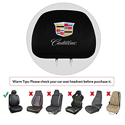 Fast & Furious for Cadillac Headrest Covers, 2 Pack Printed Logo Car Truck SUV Van Headrest Covers for Cadillac All Models: Automotive
