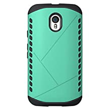 Moto G 2015 3rd Gen Case, Cruzerlite Spartan Dual Protection Cases Compatible with Motorola Moto G (3rd Generation) 2015 - Teal