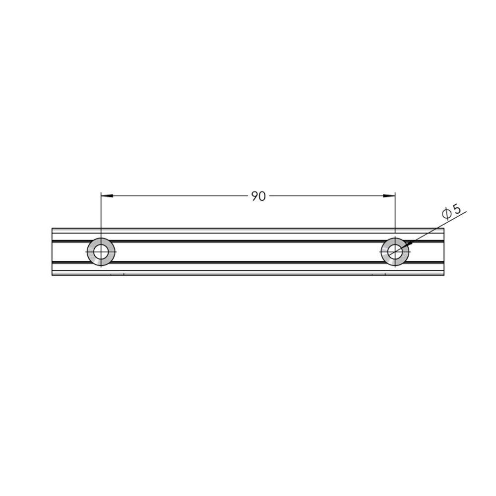 Fissaggio a Parete Forato per Pannello segnaletico Max 6 mm visualizzazione Possibile Fronte//Retro Lunghezza 120 mm ALTUMIS