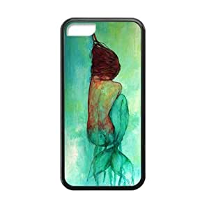 LJF phone case LeonardCustom- The Little Mermaid Princess Ariel Protective Hard TPU Rubber Coated Phone Case Cover for iphone 6 4.7 inch -LCI5CU418