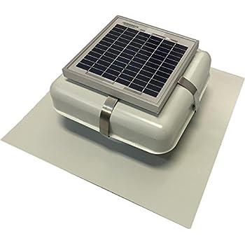 Solar Roof Vent   Solar Attic Fan   Solar RVOblaster With White Vent