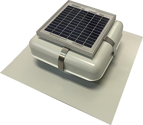 Solar Roof Vent - Solar Attic Fan - Solar RVOblaster with White Vent
