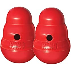 Kong WOBBLER Treat Dispensing Dog & Puppy Toy SMALL (PW2) 2 PACK