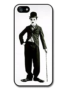 AMAF ? Accessories Charlie Chaplin iPhone 5 Case Grayscale