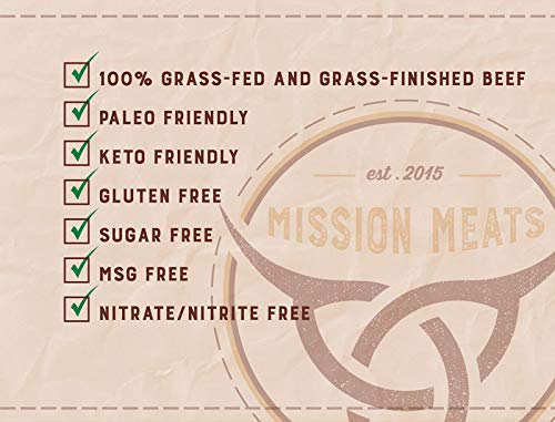 Keto Sugar Free Grass-Fed Beef Snacks Sticks Non-GMO Gluten Free MSG Free Nitrate Nitrite Free Paleo Healthy Natural Meat Sticks by Mission Meats (Image #4)