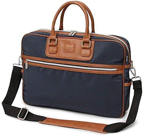 ビジネスバッグ メンズ PVCナイロン PUレザー切り替えブリーフケースビジネスバッグ