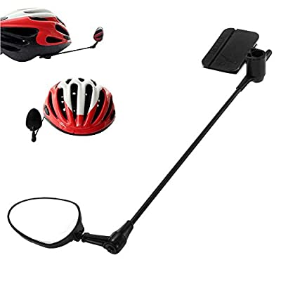 4-R Bike Mirror for Helmet, 360°Rotation Adjustable Helmet Mirror With Crystal Clear Rear View Mirror