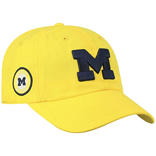 - Top of the World Michigan Wolverines Official NCAA Adjustable Yellow Curved Bill Staple 4 Hat Cap 745404