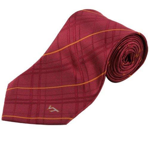 Virginia Tech Tie - Virginia Tech Oxford Stripe Woven Silk Necktie