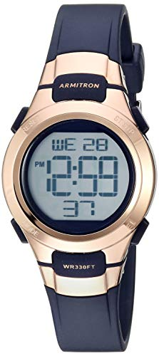 Armitron Sport Women's Quartz Resin Sport Watch, Color:Blue (Model: 45/7012RNV)