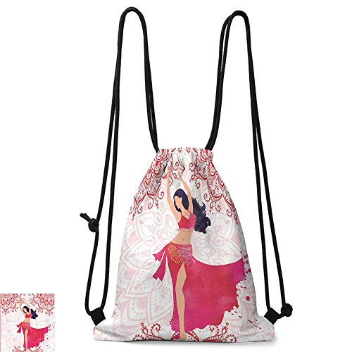 Personality backpack Unique Gifts for Men Oriental Belly Dancer Dance Costumes Mandala Bohemian Adult Ornaments Fanciful Home Wall W14
