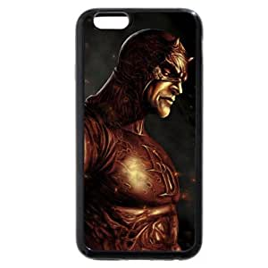 """Onelee Customized Marvel Series Case for iPhone 6 4.7"""", Marvel Comic Hero Daredevil iPhone 6 4.7"""" Case, Only Fit for Apple iPhone 6 4.7"""" (Black Soft Rubber)"""