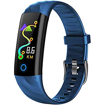 ZCPWJS smart wristband Heart Rate Bracelet Smart Bracelet Fitness Tracker Activity Sleep Monitor Blood Pressure Oxygen Measurement IP68 Waterproof Blue Estimated Price £43.41 -