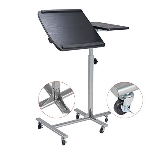 Adjustable Laptop Desk Computer Stand Table Black  (Large Image)