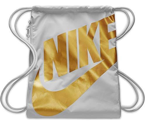 NIKE Heritage Gym Sack (One Size, Light Tan/Gold/Gold)