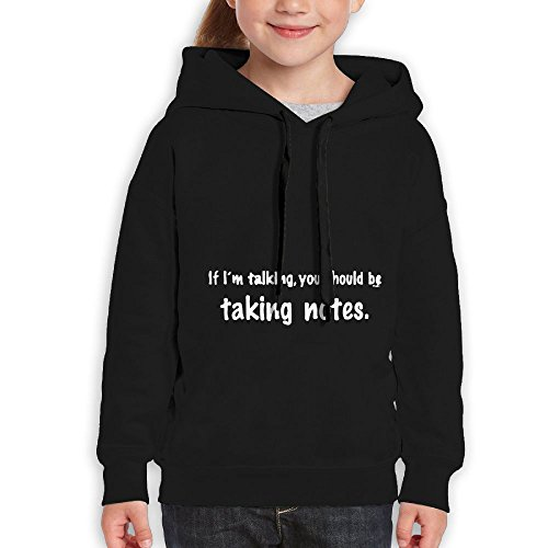 Price comparison product image FDFAF Teenager Youth If I'm Talking You Should Be Taking Notes Jogging Cool Hoodie Sweatshirt M Black