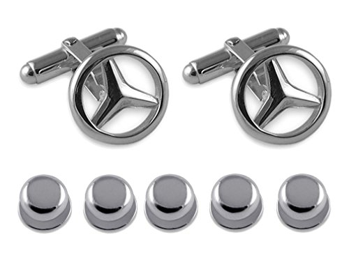Sterling Studs silver Shirt Mercedes silver Mercedes Sterling Set Gift Cufflinks Dress r1qrTHx