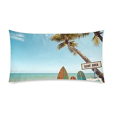 Amazon.com: interestprint verano palmera sobre playa ...